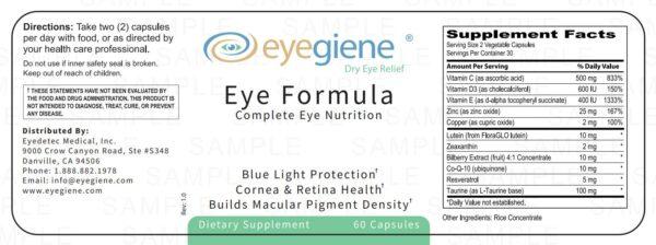 Eye Nutrition Supplements Information