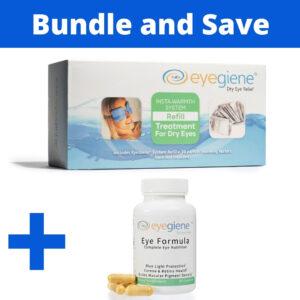 EyeGiene Dry Eye Mask Refills and Eye Nutrition Supplement