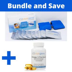 EyeGiene Dry Eye Starter Kit and Omega 3 Supplement